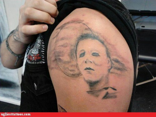 shoulder tattoos,michael myers,scary movie