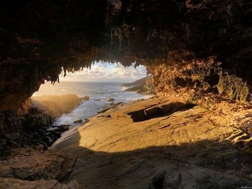 australia,beach,cave,landscape