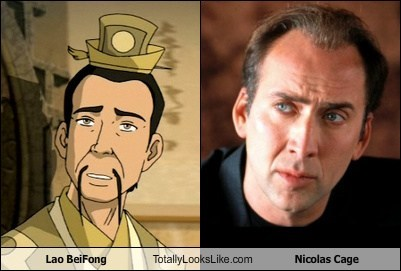 lao beifong,TLL,Avatar the Last Airbender,nicolas cage
