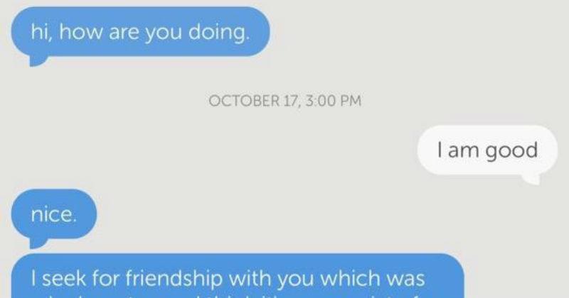 random act of kindness flirty cringe conversation texting weird - 7027973