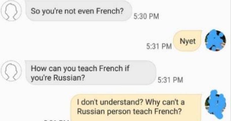 Sad boss frustrating job teaching work ridiculous idiots no french mom cheap tutor awful money asshole - 7028741