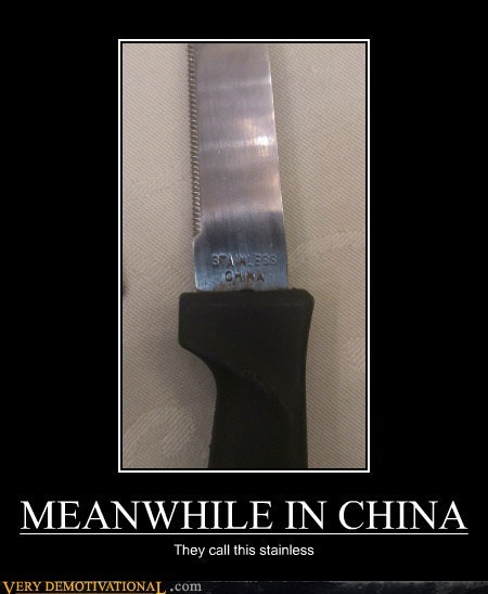 wtf China knife stainless steel
