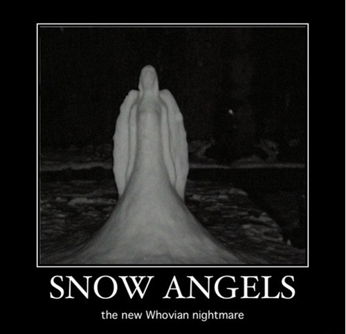 scary,snow angels,weeping angels,doctor who,nightmare
