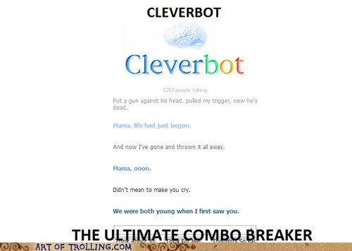 Cleverbot combo breaker funny - 7029330944