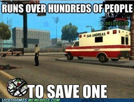 retro retro sadly ambulance Grand Theft Auto classic - 7029376256