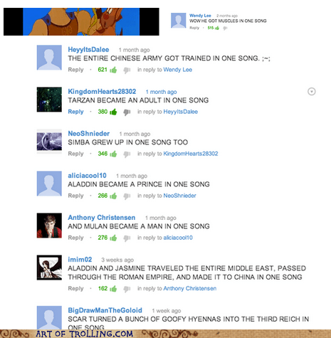 disney,comments,youtube,montage