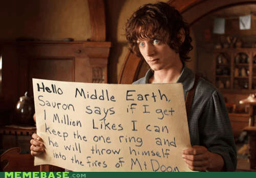 Lord of the Rings likes facebook - 7029928448
