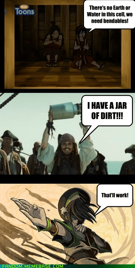 jack's jar of dirt,jack sparrow,Avatar the Last Airbender