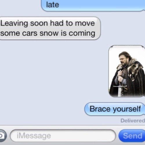 very clever Winter Is Coming iPhones brace yourself