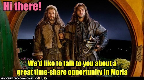 moria aidan turner Dean O'Gorman kili time share The Hobbit fili
