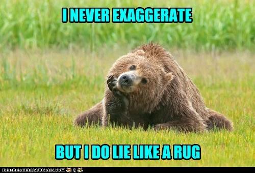 exaggerating bears rug lying puns - 7030654464