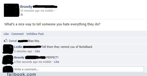 hating someone nickelback failbook g rated - 7030829824