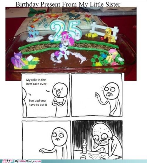 Sad cake cute Memes birthday present - 7030859008