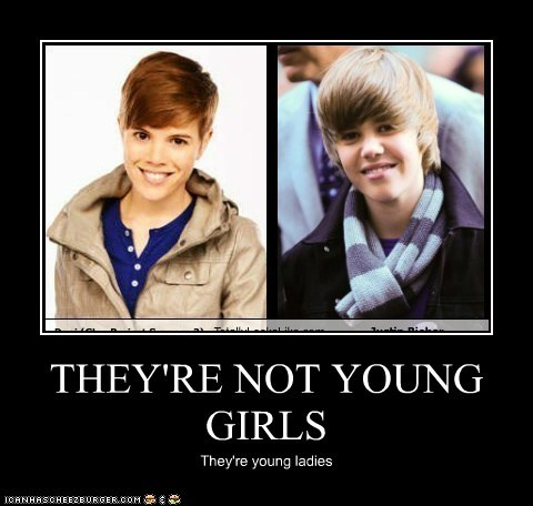 THEY'RE NOT YOUNG GIRLS