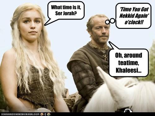 jorah mormont nekkid Iain Glen Emilia Clarke khaleesi Daenerys Targaryen - 7031719936