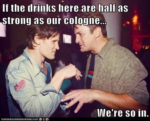 drinks,nathan fillion,cologne,Matt Smith,doctor who,Firefly