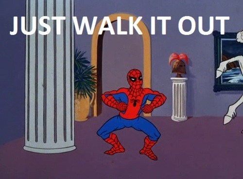 sprain,wtf,Spider-Man,walk