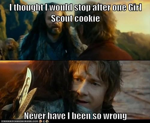 Sudden Change of Heart Thorin,girl scout cookies,cookies