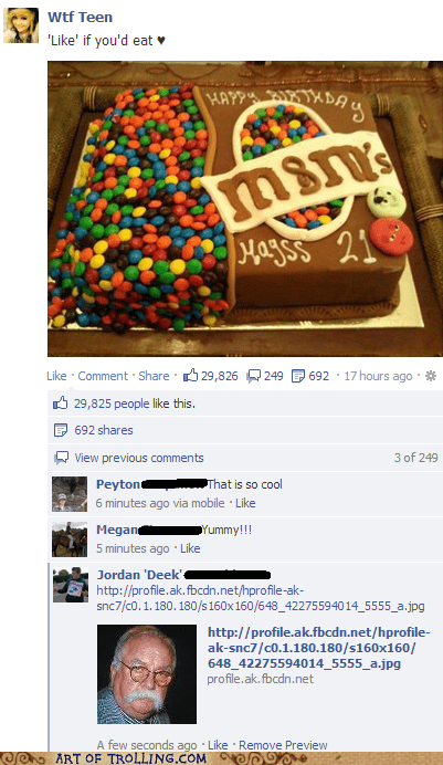 cake facebook diabeetus wilford brimley - 7031993344