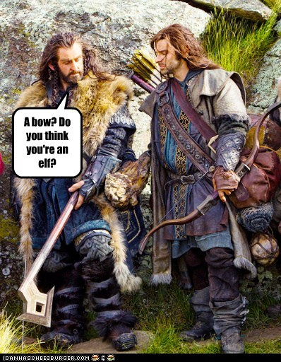 elf aidan turner kili richard armitage bow dwarves The Hobbit thorin oakenshield - 7032388864