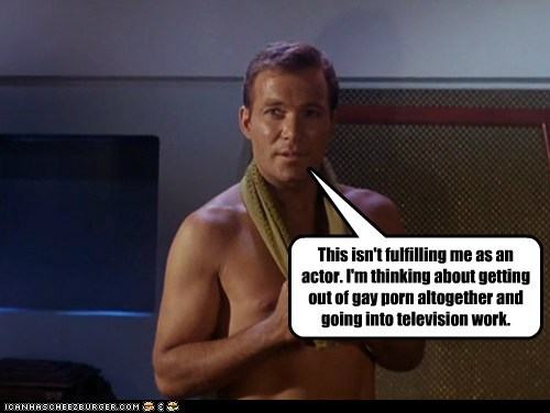 Captain Kirk shirtless actor Star Trek William Shatner pr0n - 7032564480