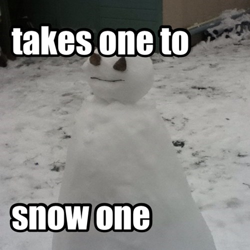 know takes one to know one snow similar sounding snowman