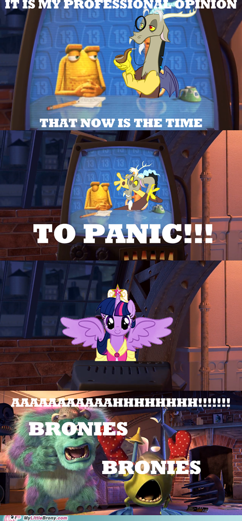Bronies discord overreaction monsters inc scared scream - 7032739328