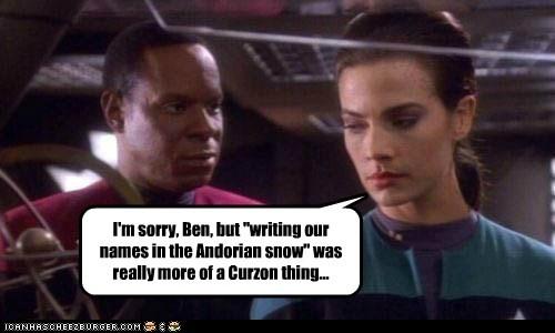 captain sisko avery brooks Star Trek Deep Space Nine Terry Farrell jadzia dax - 7032926976