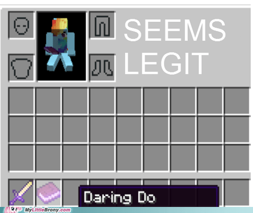 minecraft daring do rainbow dash seems legit - 7032954880