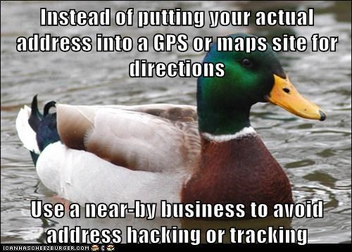 gps,Actual Advice Mallard,directions