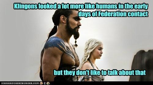 klingons Game of Thrones Jason Momoa Khal Drogo Emilia Clarke Star Trek Daenerys Targaryen - 7033012736