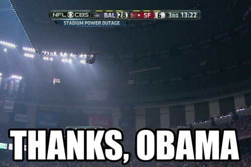 super bowl,thanks obama,power outage