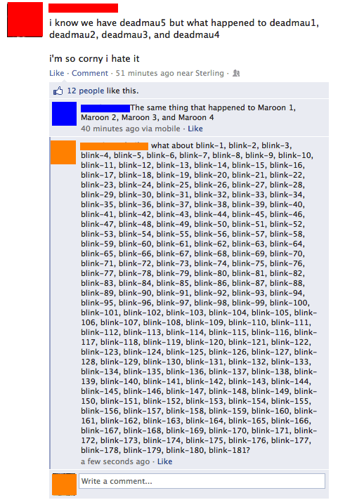 band names,facebook,numbers