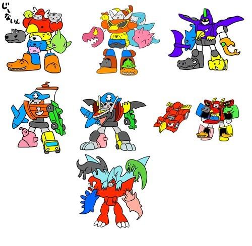 power rangers Super Sentai art megazord - 7033184000