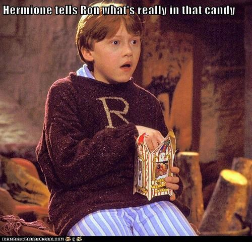 Hermione tells Ron what's really in that candy