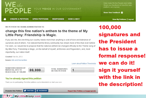 ponified,sign it bronies,response,petition