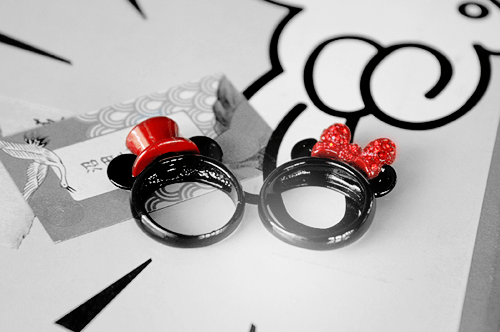 rings minnie mouse disney mickey mouse ears Jewelry - 7033649664