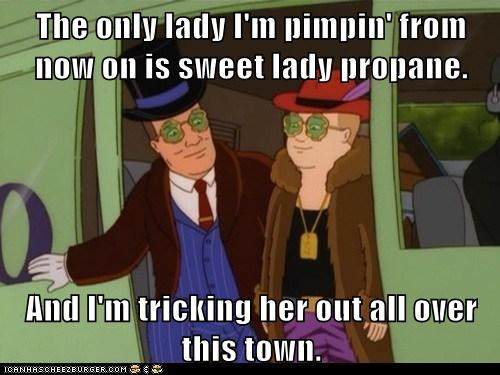 propane bobby hill hank hill King of the hill pimp - 7033654016