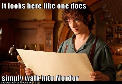 Lord of the Rings Frodo Baggins map The Hobbit elijah wood one does not - 7034746624