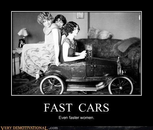 Sexy Ladies old timey fast cars - 7034898688