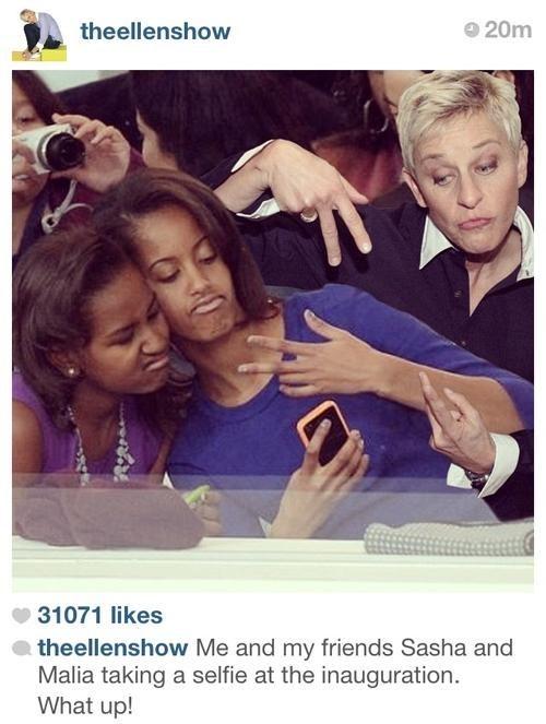 selfie instagram ellen obamas - 7035149568