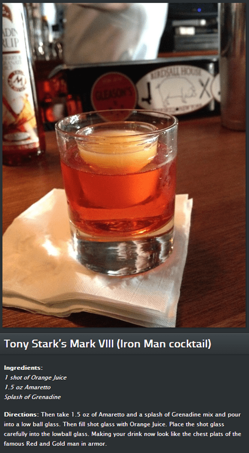 happy hour,iron man 3,the drunken moogle