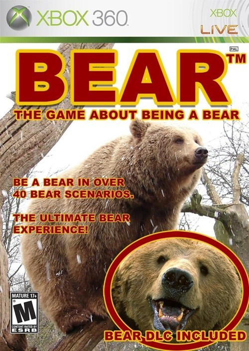 art,bear,video games,funny