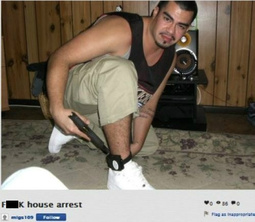 wtf bad idea house arrest gun