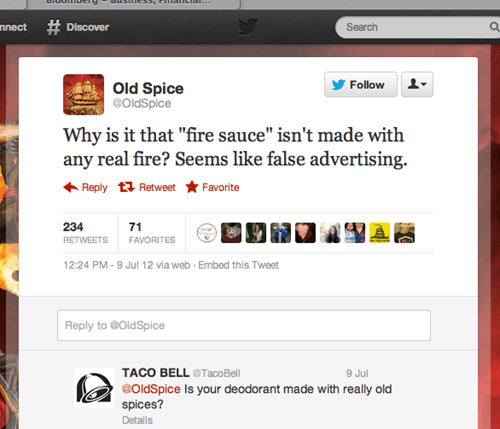 advertising old spice taco bell twitter - 7035816960