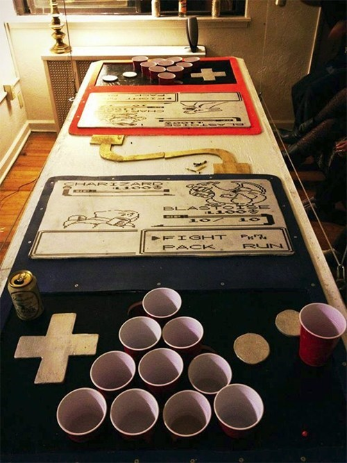 drinking Battle Pokémon link cable IRL beer pong after 12 g rated - 7035854592