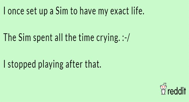 horror stories Reddit The Sims funny weird - 7035909
