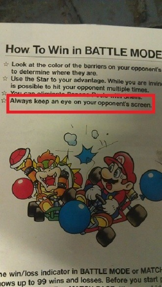 screenwatching Mario Kart manual cheating