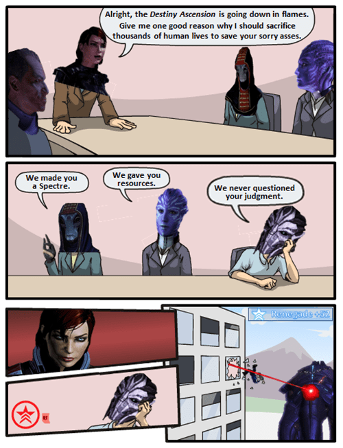 mass effect,the council,Memes,comic
