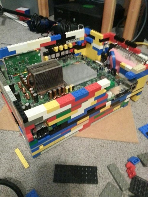 Making an Xbox 360 Case Out of Legos